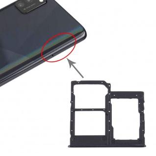 Dual Sim Karten Halter Samsung Galaxy A41 Schwarz Card Tray Micro SD Ersatzteil