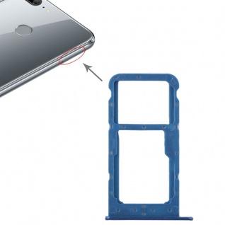 Für Huawei Honor 9 Lite Karten Halter Sim Tray Schlitten Holder Blau Ersatz Neu