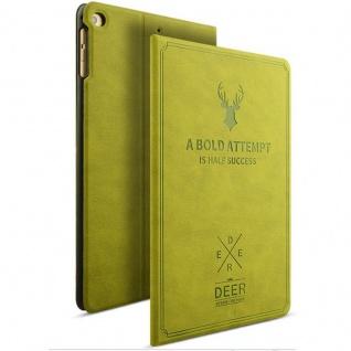 Design Tasche Backcase Smartcover Grün für NEW Apple iPad 9.7 2017 Hülle Case