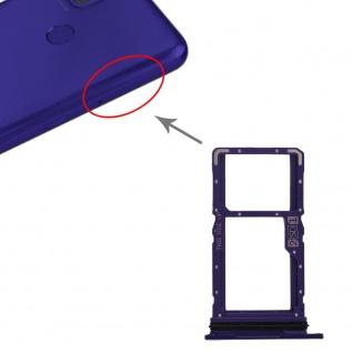 Für Motorola Moto G9 Power Dual Sim / SD Karten Halter Lila Ersatzteil Zubehör
