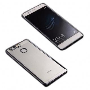 Premium TPU Schutzhülle Schwarz für Huawei P9 Tasche Case Backcover Silikon Neu