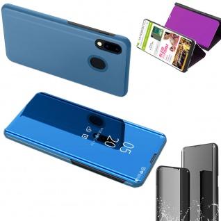 Für Samsung Galaxy M30s M307F View Smart Cover Blau Handy Tasche Wake UP Etuis - Vorschau 2