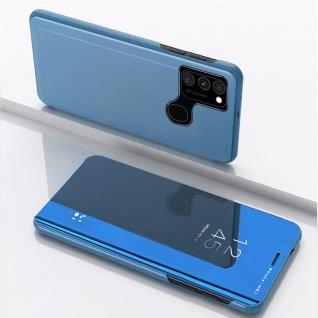 Für Samsung Galaxy A21s View Smart Cover Hülle Blau Handy Tasche Etuis Wake UP
