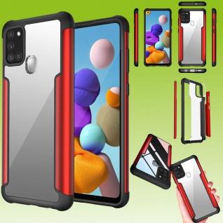 Für Samsung Galaxy A21s Hybrid Iron Man Rot Handy Tasche Etuis Hülle