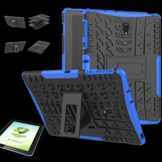 Für Samsung Galaxy Tab S4 10.5 T830 Hybrid Outdoor Blau Tasche + 0.4 H9 Glas Neu