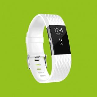 Für Fitbit Charge 2 Kunststoff / Silikon Armband für Männer / Größe L Weiß Uhr
