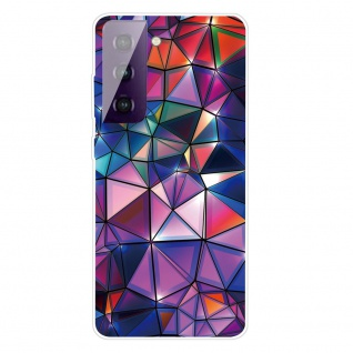 Für Samsung Galaxy S21 Plus Silikon TPU Color Blocks Handy Hülle