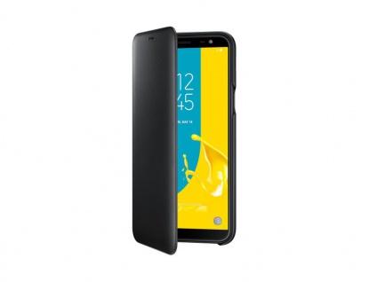 Samsung Wallet Cover Tasche Hülle EF-WJ600 für Galaxy J6 2018 Schutzhülle Black