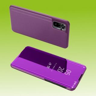 Für Xiaomi Redmi Note 10 Pro View Smart Cover Hülle Magenta Handy Tasche Etuis