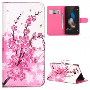 Schutzhülle Muster 6 für Huawei P9 Bookcover Tasche Case Hülle Wallet Etui Neu
