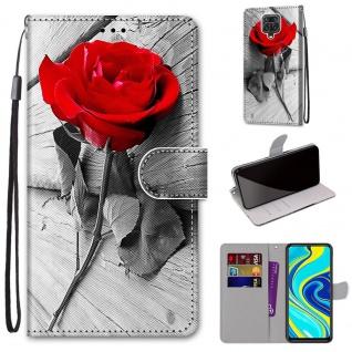 Für Xiaomi Redmi Note 9S / 9 Pro Kunst-Leder Handy Tasche Motiv 3 Hülle Etuis