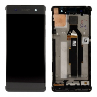 Sony Display LCD Komplett mit Rahmen für Xperia XA F3111 F3112 Schwarz Ersatz