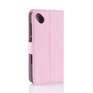 Tasche Wallet Premium Rosa für Wiko Sunny 2 Plus Hülle Case Cover Etui Schutz - Vorschau 3