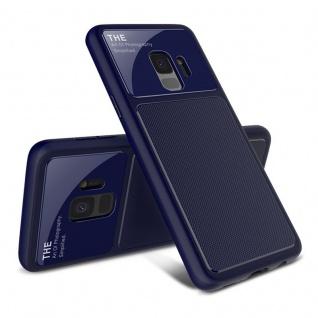 Design Cover Blau TPU für Samsung Galaxy S9 G960F Schutz Etui Tasche Hülle Case