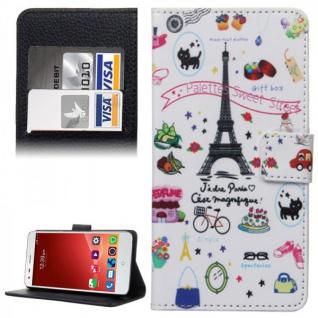 Schutzhülle Muster 41 für ZTE Blade S6 Bookcover Tasche Hülle Wallet Case Cover