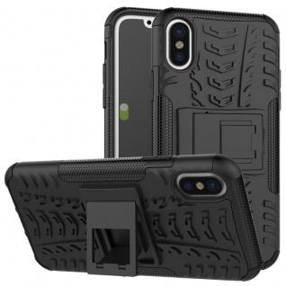 New Hybrid Case 2teilig Outdoor Schwarz für Apple iPhone X 5.8 Zoll Tasche Hülle