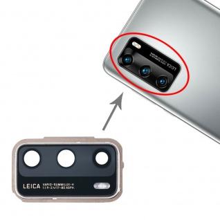 Camera Lens Cover für Huawei P40 Blau Silber Ersatzteil Reparatur Zubehör Ersatz