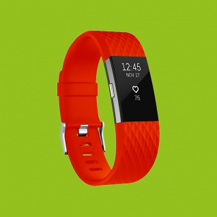 Für Fitbit Charge 2 Kunststoff / Silikon Armband für Männer / Größe L Rot Uhr