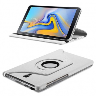 Für Samsung Galaxy Tab S4 10.5 T830 T835F Weiß 360 Grad Kunstleder Tasche Hülle