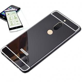 Alu Bumper 2 teilig Schwarz + 0, 3 H9 Glas für Huawei Honor View 10 / V10 Tasche