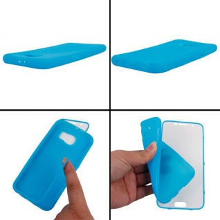 Design Cover mit Frontabdeckung Blau für Samsung Galaxy S6 G920 G920F Tasche Neu - Vorschau 2