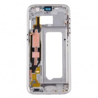 Gehäuse Rahmen Deckel kompatibel Samsung Galaxy S7 G930 G930F Kleber Silber - Vorschau 2