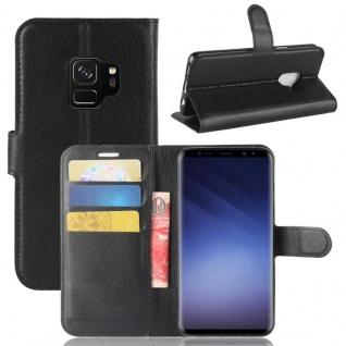 Tasche Wallet Premium Schwarz für Samsung Galaxy S9 G960F Hülle Case Cover Etui