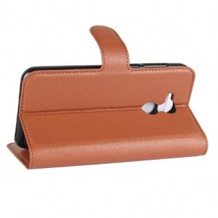 Tasche Wallet Premium Braun für Huawei Honor 6A Hülle Case Cover Etui Neu Schutz - Vorschau 5