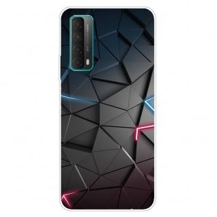 Für Huawei P Smart 2021 Silikon TPU Dark Blocks Handy Hülle