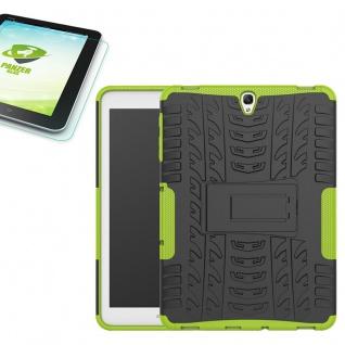 Hybrid Outdoor Tasche Grün für Samsung Galaxy Tab S3 9.7 T820 + 0, 4 Hartglas