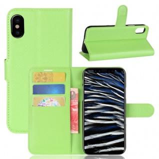 Schutzhülle Grün für Apple iPhone X / XS 5.8 Zoll Bookcover Tasche Case