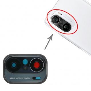 Kamera Linsen Abdeckung für Xiaomi Poco F3 Ersatzteil Reparatur Schwarz