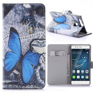 Schutzhülle Muster 55 für Huawei P9 Bookcover Tasche Case Hülle Wallet Etui Neu