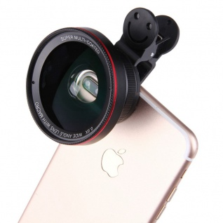 Universal Kamera Makro Weitwinkel Fischauge Objektiv Linse für Smartphone Tablet - Vorschau 2