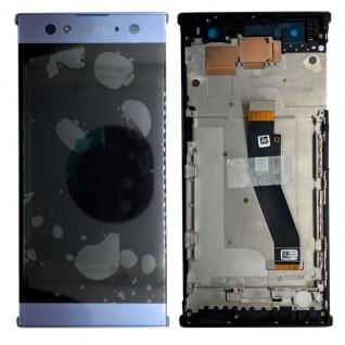 Sony Display LCD Komplett mit Rahmen für Xperia XA2 Ultra Blau Ersatz Reparatur