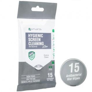 4smarts Antibakterielle Reinigungstücher Clean für Displays Smartphones Tablets