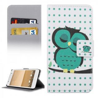 Schutzhülle Muster 34 für HTC One A9 Tasche Book Cover Case Hülle Etui Schutz