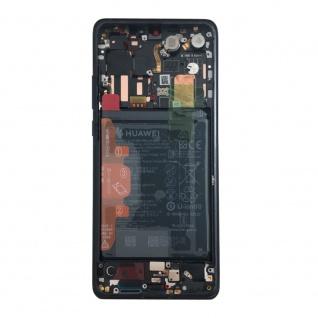 Huawei Display LCD Rahmen für P30 Pro Service 02352PBT Schwarz / Black Batterie - Vorschau 3