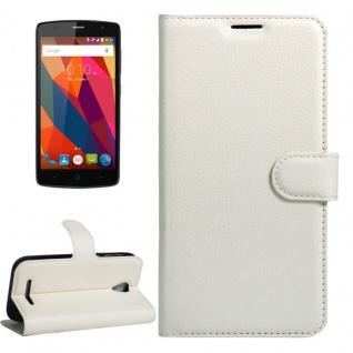Schutzhülle Weiß für ZTE Blade A110 L110 Bookcover Tasche Hülle Wallet Case Neu