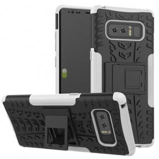 Hybrid Case 2teilig Outdoor Weiß Tasche Hülle für Samsung Galaxy Note 8 N950F
