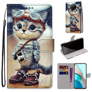 Für Xiaomi Redmi Note 9T / Note 9 5G Kunst-Leder Handy Tasche Motiv 1 Hülle Etui