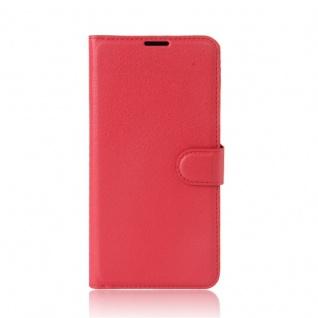 Tasche Wallet Premium Rot für Wiko Upulse Lite Hülle Case Cover Etui Schutz Neu - Vorschau 2