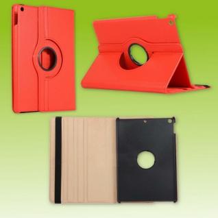 Für Apple iPad 10.2 Zoll 2019 / 2020 Rot 360 Grad Etui Tablet Tasche Kunst-Leder