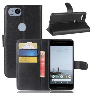 Tasche Wallet Premium Schwarz für Google Pixel 2 Hülle Case Cover Etui Schutz