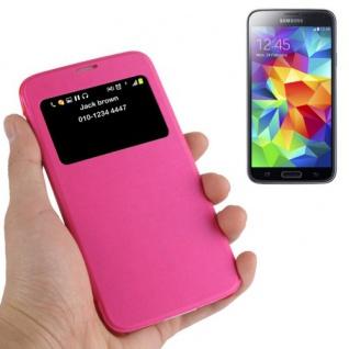Smartcover Window Pink für Samsung Galaxy S5 Mini G800 A F Tasche Cover Case Neu