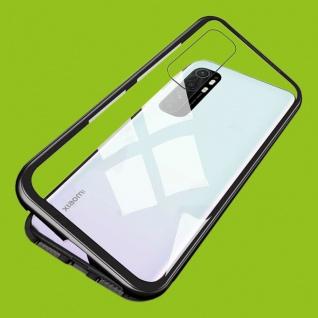 Für Xiaomi Mi Note 10 Lite Magnet Metall Glas Schwarz Handy Tasche Hülle Case