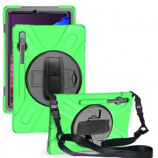 Für Samsung Galaxy Tab S7 FE / Tab S7 Plus Hybrid Outdoor Grün Tasche Hülle Etui