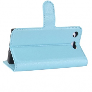 Schutzhülle Blau für Sony Xperia XZ1 Compact / Mini Bookcover Tasche Case Cover - Vorschau 4