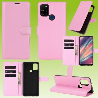 Für Wiko View 5 / 5 Plus Handy Tasche Rosa Etuis Kunst-Leder Cover Hülle Case