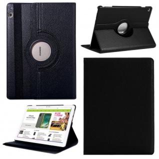 Für Apple iPad Pro 12.9 3. Gen Schwarz 360 Grad Hülle Cover Tasche Kunstleder